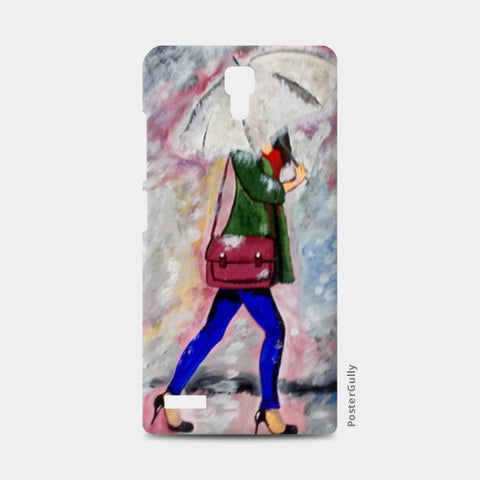 A walk in rain Painting Redmi Note Cases | Artist : Pallavi Rawal