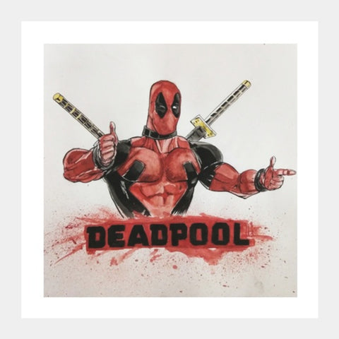Deadpool | Vivek Aind Square Art Prints | Artist : Vivek Aind