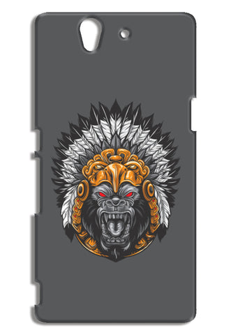 Gorilla Wearing Aztec Headdress Sony Xperia Z Cases | Artist : Inderpreet Singh