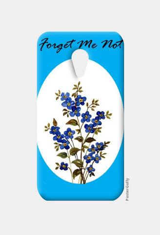 Moto G2 Cases, Blue Forget Me Not Floral Moto G2 Cases | Artist : Seema Hooda, - PosterGully