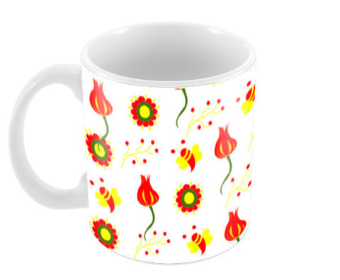 Flower Garden Coffee Mugs | Artist : Nisha Prabhu