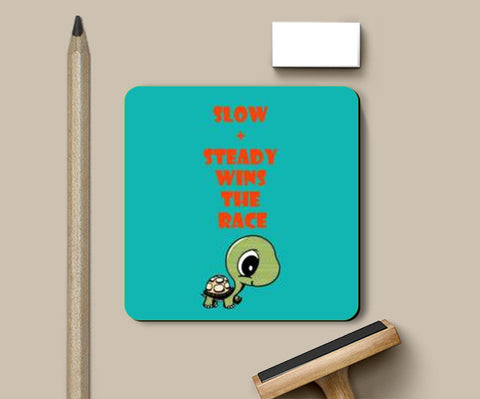 Coasters, slow and steady wins the race Coasters | Artist : Champa Guchait, - PosterGully