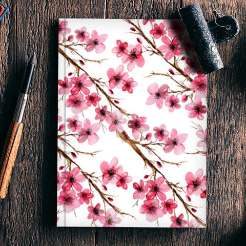 Pink Cherry Blossom Floral Design  Notebook | Artist : Seema Hooda