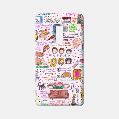 One Plus Two Cases, FRIENDS Doodle One Plus Two Cases | Artist : The Doodle Soup by Keya Shah, - PosterGully