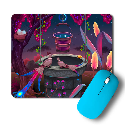The Wishing Well In Intricate Garden Mousepad