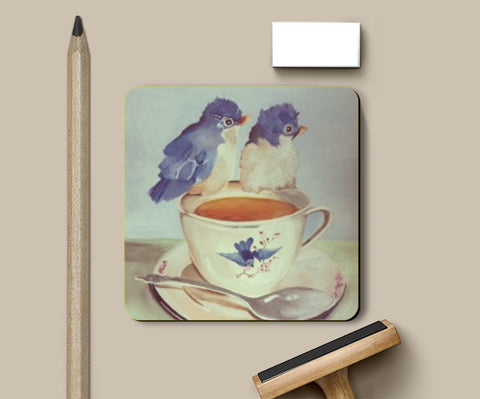 Coasters, two for tea vintage Coaster | Pritika Uppal, - PosterGully