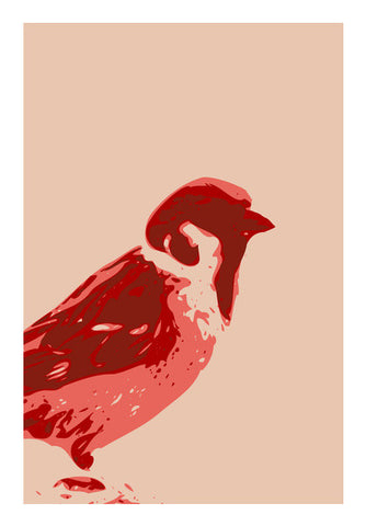 Wall Art, Abstract Sparrow Red Wall Art | Artist : Keshava Shukla, - PosterGully