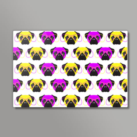 Pop Art Pugs Pattern Metal Prints | Artist : Stuti Bajaj