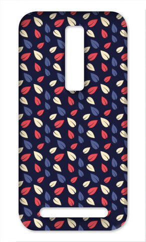 Seamless leaves multicolor vector pattern Asus Zenfone 2 Cases | Artist : Designerchennai