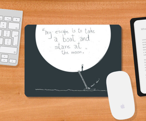 moon lover | quote Mousepad | Artist : saurabhzuve