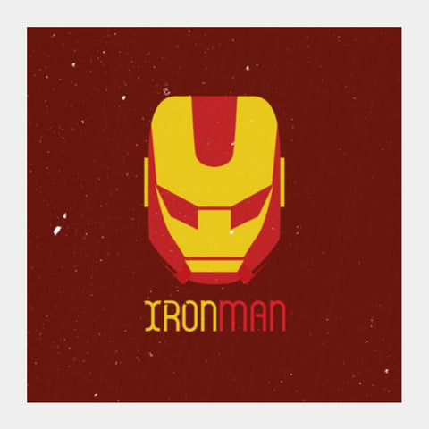 Ironman Mask Square Art Prints PosterGully Specials