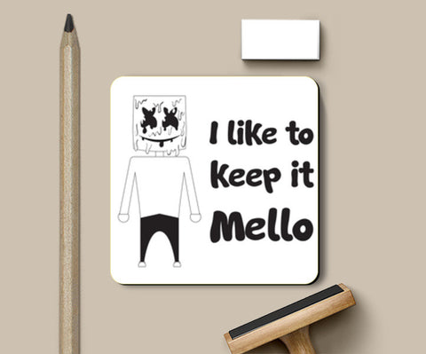 PosterGully Coasters, I like to keep it Mello Coasters | Artist : Abhimanyu Krishna, - PosterGully