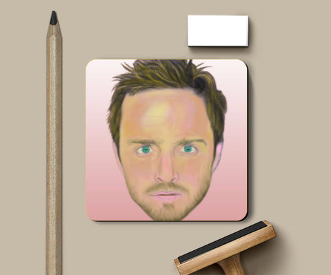 Coasters, Breaking Bad Jesse Pinkman Artwork Coaster | Artist: Tridib Das, - PosterGully