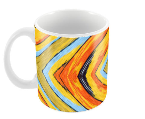 Colorful Abstract Diamond Aztec Digital Pattern  Coffee Mugs | Artist : Seema Hooda