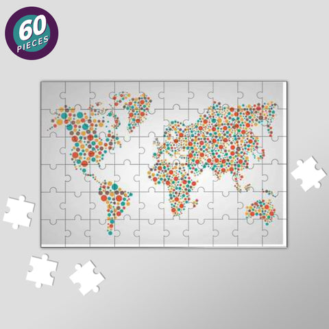 World Map Dots Pattern Jigsaw Puzzles | Artist : Inderpreet Singh
