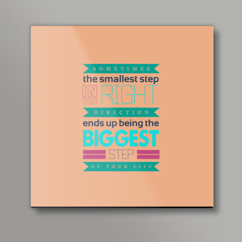 Cool typography quote Square Metal Prints | Artist : Stuti Bajaj