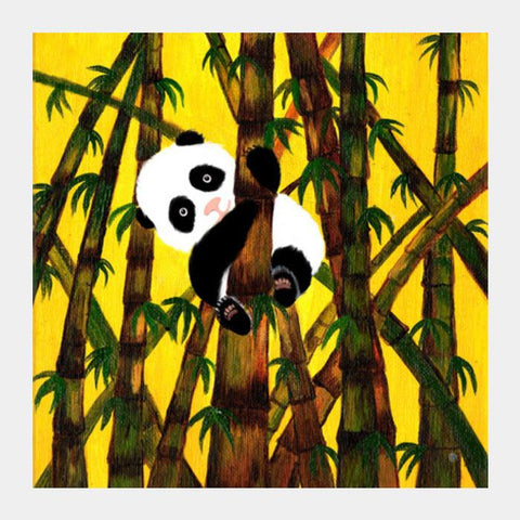 Baby Panda Cuteness Overload! Square Art Prints PosterGully Specials