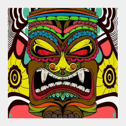 Tiki Monster Square Art Prints | Artist : Pulkit Taneja