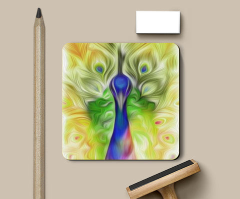 Coasters, The colours in me PEACOCK Coaster | Vidhisha Kedia, - PosterGully
