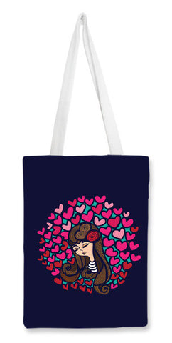 Tote Bags, heart girl Tote Bags | Artist : abhijeet sinha, - PosterGully