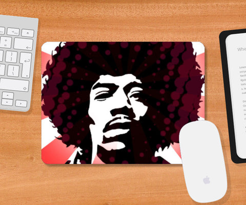 Mousepad, Jimi On Acid Mousepad | Artist: Athul Menon, - PosterGully