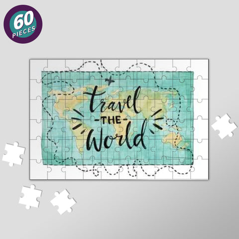 Travel World Map Jigsaw Puzzles | Artist : Inderpreet Singh