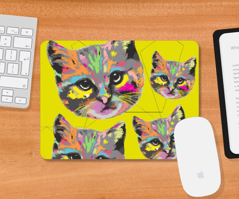 Mousepad, Kitty Mousepad | Artist: Devina Jain, - PosterGully