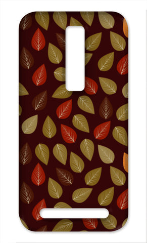 Seamless pattern with multicolored leaf on dark  Asus Zenfone 2 Cases | Artist : Designerchennai