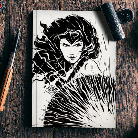 Wonder Woman fan art Notebook | Artist : Monisha Miriam