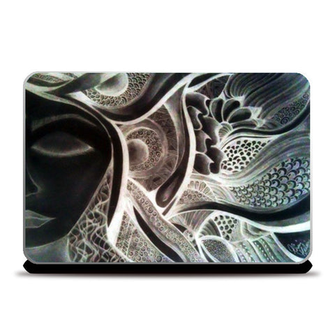 shake dreams from your hair (negative effects) Laptop Skins | Artist : Khwabeeda