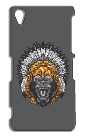Gorilla Wearing Aztec Headdress Sony Xperia Z2 Cases | Artist : Inderpreet Singh