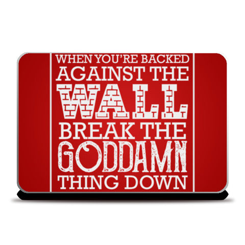 SUITS Quote Typography Laptop Skins | Artist : Virtual Paintings