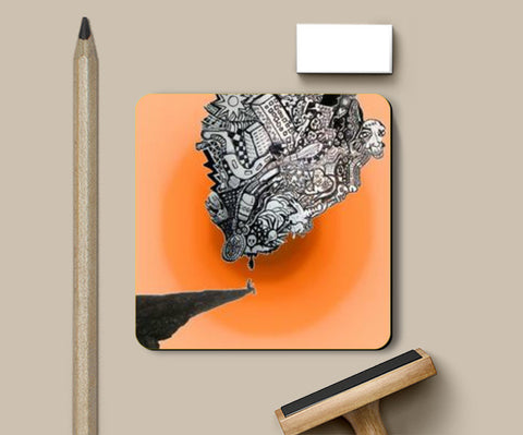 Coasters, Cliff Thoughts Coasters | Artist : Deepa Mehra, - PosterGully