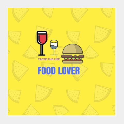 Food Lover Square Art Prints | Artist : Pallavi Rawal
