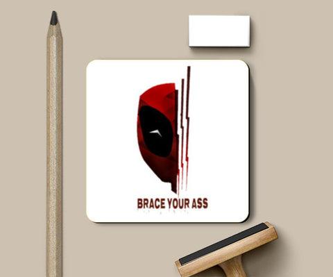 brace your ass Coasters | Artist : nilesh gupta