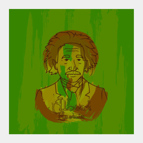 Albert Einstein Square Art Prints PosterGully Specials