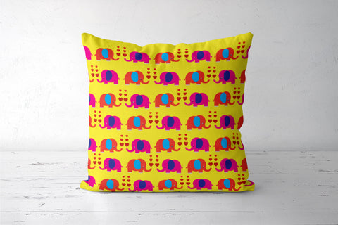 Elephant Love Cushion Cover | Artist: Pratyusha Subramaniam