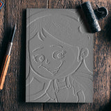 3D Cute Girl Notebook | Artist : ashman's