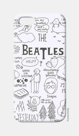 iPhone 5 Cases, Beatles doodle phone cover iPhone 5 Cases | Artist : Anjali Nilakantan, - PosterGully