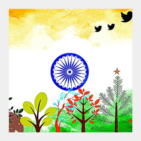 India Square Art Prints | Artist : Pallavi Rawal