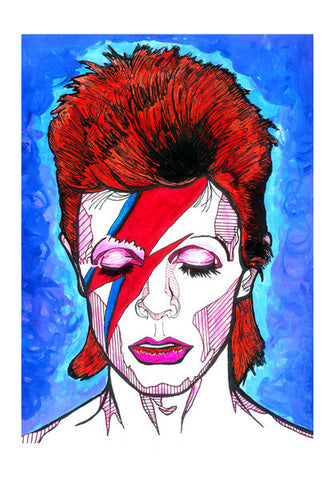 David Bowie - Starman to Stardust Wall Art | Artist : Pop Goes The Easel