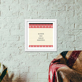 Be your own kind of beautiful Premium Square Italian Wooden Frames | Artist : Pallavi Rawal