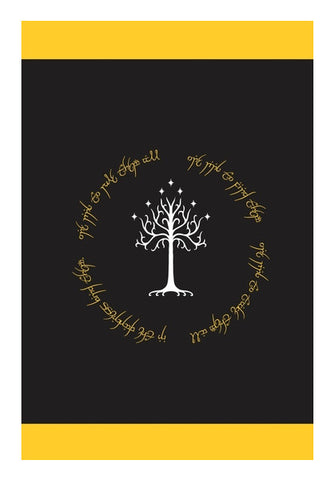 Lord of the ring Gondor white tree gold  Wall Art | Artist : Gauri Deshpande