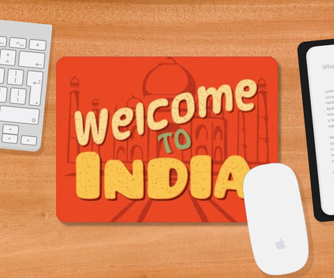 Mousepad, Welcome to India retro Mosuepad | Artist : Abhishek Kanungo, - PosterGully
