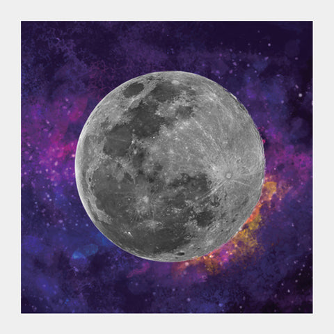 Purple Moon Square Art Prints | Artist : Suraaj Ajithakumar