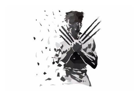 Wall Art, Low Poly Wolverine Dispersed  Wall Art | Artist: Darshan Gajara, - PosterGully