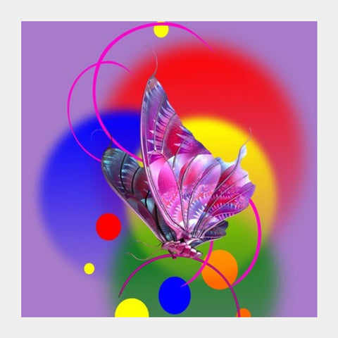 Butterfly In Dream Square Art Prints PosterGully Specials