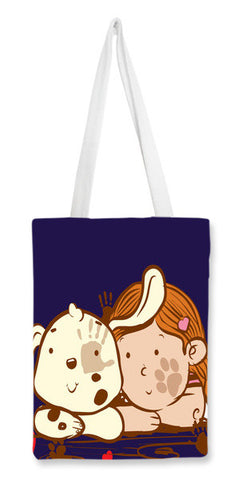 Tote Bags, dog and girl Tote Bags | Artist : abhijeet sinha, - PosterGully