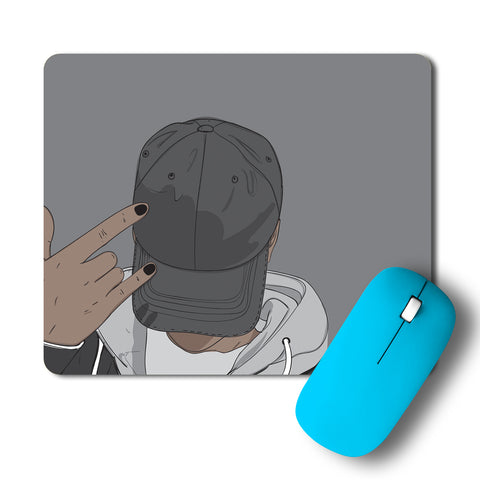 Cool Guy Wearing A Cap Artwork Mousepad