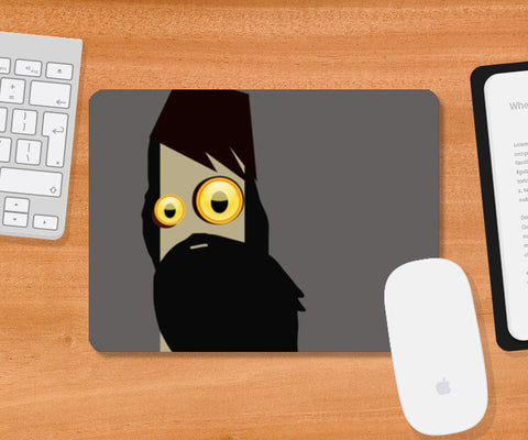 Mousepad, face Mousepad | Artist : Midhun Mohan, - PosterGully